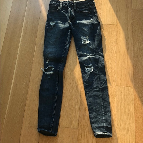 American Eagle Outfitters Denim - Super Stretch Ripped Skinny Jeans